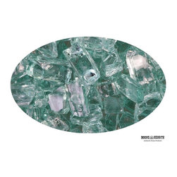 "Boone Hearth - 10 LB Bag of 1/4"" Jade Fire Glass - 10 LB Bag of 1/4"" Jade Fire Glass"