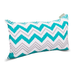 Majestic Home - Outdoor Pacific Zazzle Small Pillow - Add a splash of color and a little texture to any environment with these great indoor/outdoor plush pillows by Majestic Home Goods. The Majestic Home Goods Small Pillow will add additional comfort to your living room sofa or your outdoor patio. Whether you are using them as decor throw pillows or simply for support, Majestic Home Goods Small Pillows are the perfect addition to your home. These throw pillows are woven from Outdoor Treated polyester with up to 1000 hours of U.V. protection, and filled with Super Loft recycled Polyester Fiber Fill for a comfortable but durable look. Spot clean only.
