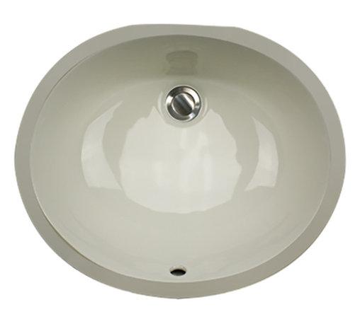 "Nantucket Sinks - Nantucket Sink UM-17x14-B-K Ceramic Lavatory Sink - Nantucket Sinks UM-17x14-B - 17"" x 14"" Undermount Ceramic Oval Bathroom Sink in Bisque. This sink has a 1.75"" drain diameter."
