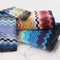 """Missoni Home - Missoni Home LARA BATH SHEET/EA - Unmistakably Missoni Home. Select color when ordering. Made in Italy of cotton terry. Machine wash. Bath towel, approximately 24"""" x 40"""". Bath sheet, approximately 35"""" x 63"""". Hand towel, approximately 16"""" x 24""""."""
