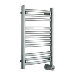 mr. steam - Mr. Steam W228 Electric Heated Towel Warmer - Transforming bathrooms into private spas, Mr. Steam has been in the business of creating well designed and durable steam products for over 50 years. The ultimate indulgence after a steam bath or shower is wrapping yourself in a freshly warmed towel. Mr. Steam's Series 200 towel warmers are available in a multitude of sizes and three finishes to perfectly match your bath and even tight budgets, providing luxury benefits for all. Towel warmers create a straight from the dryer warmth on towels and clothing. They also dry damp towels to help prevent mildew, are a place to dry your delicates, and to warm up blankets or quilts at night. Mr. Steam uses sustainable recyclable stainless steel in all home products and includes a 2-Year Limited-Warranty for towel warmers. Features & Specs Quality, design and performance you've come to expect from a Mr.Steam product Prices that fit even the tightest budget Wall-mount models save space and give a built in look Sleek curved lines maximize surface heating area Simple elegance complements any bathroom cULus Listed All diagrams are for illustrative purposes only Standard with built in Aromatherapy oil well 400 Watts, 120 Volts 2-Year Limited-Warranty for towel warmers View Specs, Installation, and Operation Information for the 200 Series