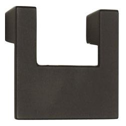 Atlas Homewares - Atlas Homewares A846-Bl U-Turn 3-Inch Single Medium Door Pull, Black - Atlas Homewares A846-Bl U-Turn 3-Inch Single Medium Door Pull, Black