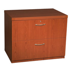 """Mayline - Mayline Aberdeen Freestanding Lateral File in Cherry-30"""" - Mayline - Filing Cabinets - AFLF30LCR - The Aberdeen Series of laminate casegoods combine fashionable aesthetics and unparalleled quality all in a package that is surprisingly affordable. Aberdeen's transitional style allows it to fit into any environment whether it be modular multi-station work areas or executive offices. Aberdeen provides exceptional abrasion and stain resistance along with technology and cable friendly components.   Features:"""