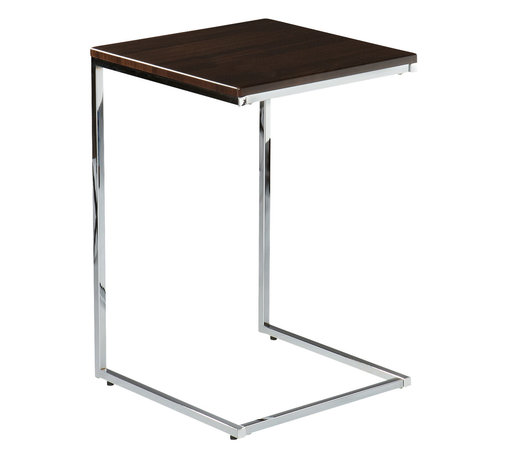 Holly & Martin - Douglas Accent Side Table - Tray table convenience and modern art style make this side table as practical as it is attractive. The sleek tabletop slides effortlessly over any sofa or chair arm, keeping drinks close and appearances classy.