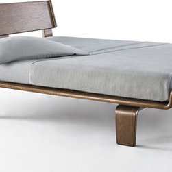 Case Study Alpine Bed - An American classic in bentwood this bed is an inspiration-I love the lines and the beautiful simplicity of form. In walnut veneer.