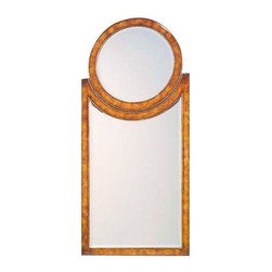 Pre-owned Art Deco Style Pollard Burl Wall Mirror - This Art Deco style pollard burl veneer wall mirror has wonderful texture and a beveled glass face. Display it over your entry table or in the hallway, bedroom or dressing area to add sophisticated style to your space.