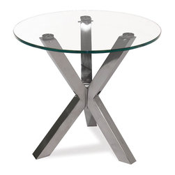 Moe's Home Collection - Redondo End Table Glass - Elegant Side table, perfect for small spaces.