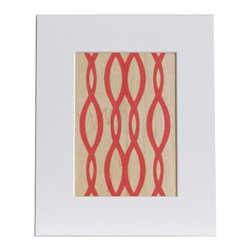 nest PURE by PURE Inspired Design - Marathon Twist Wood Print in Paprika, 8x10 - Collection:  PURE Prints