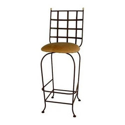 "Grace - Westminster Swivel Barstool - Features: -Painted according to your choice of metal finish. -Ships fully assembled.-24"" and 30"" seat height. -Dimensions: 18"" W x 20"" D x 49"" H. -Artistically crafted in wrought iron. -Available in 12 designer metal finishes. -Suited for Residential use only. About Grace Grace Manufacturing is a metal and wrought iron furniture manufacturing company located in Rome, GA. The company has been in business for 25 years and continues to employ skilled artisans and craftsmen. In addition to their state of the art manufacturing equipment they still assemble and finish many products by hand. Many items in the Grace Collection are fully hand made or hand painted. With products ranging from barstools, counter stools, and dinettes to wrought iron beds, hanging potracks, bakers racks and more, Graces line meets all professional and home needs. By implementing unique styles and ideas to traditional products, Grace has created an exceptional balance between creativity and practicality. Their design styles range somewhere between whimsical, neo classic and traditional, thus creating a truly astonishing decor for any inside space."