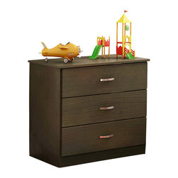 South Shore - South Shore Libra Kids 3 Drawer Chest in Chocolate Finish - South Shore - Kids Dressers - 3159033 - The Libra Three Drawer Chest is constructed from laminated engineered wood and has a chocolate finish. It features three drawers for ample storage sleek metal handles simple lines and rounded corners for maximum safety. Distinctly contemporary in style the Libra Three Drawer Chest will fit comfortably in your kid's bedroom.Features: