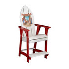Panama Jack Chairman Balcony Chair with Red Finish