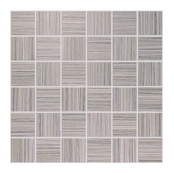 Bamboo Porcelain Tile Collection - Mosaic - Walnut 2x2 -