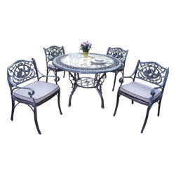 Oakland Living - Oakland Living Mississippi Hummingbird 5-Piece Dining Set with Cushions - Oakland Living - Patio Dining Sets - 201633129AP - About This Product: