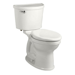 "American Standard - American Standard 211A.A104.020 Champion Pro Right Height Elongated Toilet White - American Standard 211A.A104.020 Champion Pro Right Height Elongated Toilet, White. This vitreous china constructed elongated toilet meets EPA WaterSense criteria, a trade-exclusive tank, a PowerWash rim that scrubs the bowl with each flush, a robust metal left-sided trip lever/metal shank fill valve assembly, an EverClean surface, a 4"" piston-action Accelerator flush valve, a 12"" Rough-in, a chrome finish trip lever, and a fully-glazed 2-3/8"" trapway"