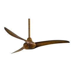 Minka Aire - Minka Aire Wave Fan in Distressed Koa F843-DK - One of the most distinct designs among Minka Aire's product line is the Wave collection of ceiling fans. Drawing inspiration from the undulating waves of the ocean, the Minka Aire Wave ceiling fans are great for any contemporary home.  With smooth lines and 3 wing like blades, a Wave fan is sure to cool your room as well as make a distinct impression on all who see it.