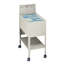 Safco - Safco Extra Deep 1 Drawer Mobile Letter Metal Tub File with Lock in Putty - Safco - Filing Cabinets - 5362PT - Initiate filing innovation. Extra deep design helps those with extra work to store. Durable steel construction with locking lid (2 keys included) slides behind unit for access to files. Top viewing design allows easy filing and retrieval of stored documents. Holds letter size hanging file folders (not included). Economy Tub File includes a convenient lower storage shelf and four swivel casters (two lock) that make it so files roll easily to point of use.