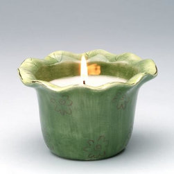 """ATD - 2.5 Inch Green """"Frogalina"""" Wax Filled Cup Candle with Flower Details - This gorgeous 2.5 Inch Green """"Frogalina"""" Wax Filled Cup Candle with Flower Details has the finest details and highest quality you will find anywhere! 2.5 Inch Green """"Frogalina"""" Wax Filled Cup Candle with Flower Details is truly remarkable."""