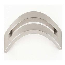 Alno Inc. - Alno Creations 8 Inch Split Top Pull Satin Nickel A422-8-Sn - Alno Creations 8 Inch Split Top Pull Satin Nickel A422-8-Sn