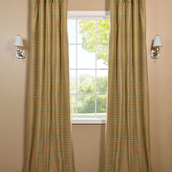 Gold Multi Hand Weaved Cotton Curtain - The Hand Weaved Cotton curtains & drapes add a casual and warm look to any window. These drapes are tailored from the finest hand loomed cotton blend