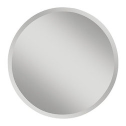 """Murray Feiss - Murray Feiss MR1155 Infinity 30"""" Diameter Clear Rounded Mirror - Murray Feiss MR1155 Infinity 30"""" Diameter Clear Rounded MirrorThirty inches in diameter, this clear glass rounded wall mirror adds luxury to any room. With its traditional d�cor, this rounded shaped mirror from the Infinity Collection is distinct and eye-catching. Hanging hardware included and affixed to the frame enabling mirror to be hung horizontally or vertically.Murray Feiss MR1155 Features:"""
