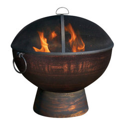 G.D. - Fire Bowl with Screen - With its beautiful spherical form, our deep Fire Bowl sets every outdoor gathering ablaze with a great ball of fiery excitement!