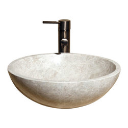 The Allstone Group - V-VR166 Emperador Light Polished Vessel Sink - Natural stone strikes a balance between beauty and function. Each design is hand-hewn from 100% natural stone.  Vessel sinks can be the most inspiring feature in a bathroom, adding style and beauty to any bath space.  Stone not only is pleasing to the eye but also has the feel of something natural and solid.