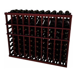Wine Cellar Innovations - 10 Col Individual w/Display; Vintner: Premium Redwood, Classic Mahogany, 3 Ft - Each wine bottle stored on this ten column individual bottle wine rack is cradled on customized rails that are carefully manufactured with beveled ends and rounded edges to ensure wine labels will not tear when the bottles are removed. This wine rack also has a built in display row. Purchase two to stack on top of each other to maximize the height of your wine storage. Moldings and platforms sold separately. Assembly required.