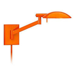 Perch Gloss Orange Modern Plug-In Sonneman Wall Lamp -