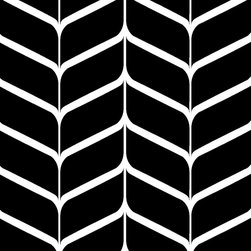 """Indigo Root - Tilez Peel & Stick Wallpaper Squares - Latte Chevron, Black, 12""""x12"""" 10-Pack - 12""""x12"""" Peel and Stick Tilez squares are made of a polyester fabric material and are environmentally safe. Bio-degradable over time. Since Tilez are non-toxic, they are great for infant and kids rooms! Transform small spaces. Refurbish old furniture. Create a non-slip dinner table runner. Tilez allows you to easily create stripes on a wall with in seconds! This material does not rip or wrinkle and is not required to be removed over time. Results may vary on stucco and other surfaces that are not smooth & clean."""