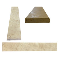 "SCABOS TILE - Light Ivory Tuscany Travertine Both Sides Honed Saddle Threshold 4""x36"" - Light Ivory Tuscany Travertine Both Sides Honed Saddle Threshold 4""x36"""