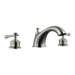 DHI-Corp - Ironwood Roman Tub Faucet, Satin Nickel - The Design House 524629 Ironwood Roman Tub Faucet features a dual handle design to easily adjust the temperature in your bathtub. Finished in satin nickel, this faucet is refined and elegant with a washerless cartridge. The brass waterways contain zinc and copper which are known to prevent antimicrobial growth ensuring safe and clean water for your family. The washerless construction reduces leakage problems that can result from worn washers, while the simple design aids in low-maintenance upkeep. Stainless steel supply lines are strong and durable to last long and resist accidental punctures. This faucet has a traditional design with a timeless configuration that can easily match any color scheme or style in your bathroom. The 4.5-gallon per minute flow rate ensures a steady water flow after years of everyday use and is UPC, ADA and cUPC compliant. This faucet has a brass body, zinc handles and quarter turn stop lever handle operation. The Design House 524629 Ironwood Roman Tub Faucet comes with a lifetime limited warranty that protects against defects in materials and workmanship. Design House offers products in multiple home decor categories including lighting, ceiling fans, hardware and plumbing products. With years of hands-on experience, Design House understands every aspect of the home decor industry, and devotes itself to providing quality products across the home decor spectrum. Providing value to their customers, Design House uses industry leading merchandising solutions and innovative programs. Design House is committed to providing high quality products for your home improvement projects.
