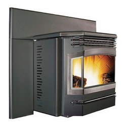 """Enviro 25'' x 23'' Meridian Series Insert Pellet Fireplace EFMFPI-A - Adjustable Hopper from 22 3/4"""" down to 19"""" high."""