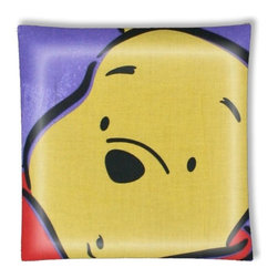 """Big Winnie the Pooh Ceiling Light - 12"""" square semi flushmount ceiling lamp with designer finish. Includes complete installation instructions and complete light fixture. Wipes clean with a damp cloth. Uses 2-60 watt bulbs (not included) and is made with eco-friendly/non-toxic products. This is not a licensed product, but is made with fully licensed products."""