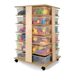 Whitney Brothers - Preschool 24 Cubby Art Storage Tower WB0702 - When floor space is precious the Preschool 24 Cubby Art Storage Tower fills a tall order.