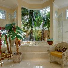 Tropical Bathroom by Michael Laurenzano Photography
