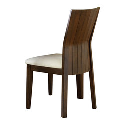 Steve Silver - Steve Silver Harlow Side Chair (Set of 2) - Western style meets Eastern influence with the contemporary Harlow Dining Collection. The Harlow side chair has a high back of vertical bent slats and cream upholstery on the seat, a perfect match for the Harlow Dining Table. What's included: Side Chair (can only be purchased in sets of 2).