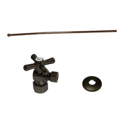 None - Decorative Oil Rubbed Bronze Toilet Plumbing Supply Kit - Add the final touch to a bathroom remodel with this decorative toilet plumbing kit. It has a bronze finish that will blend seamlessly into your bathroom's decor,and it comes with a shut-off valve and supply line,so you'll have all the parts you need.
