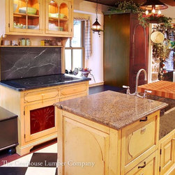 Cherry with Maple Butcher Block Countertop in Springhouse, PA - Countertop Wood: Cherry with Maple