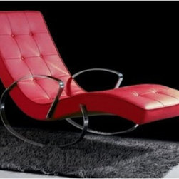 Christiane Indoor Rocker Chaise Lounge - If you think ultra modern furniture can't be comfortable, try the Christiane Indoor Rocker Chaise Lounge. This contemporary rocking chaise lounge cradles you in comfort and high style. Its curved frame has a polished chrome finish. It's upholstered in your choice of leatherette color and detailed with button tufting. About Whiteline:With a product line that includes prime leather sofas, comfortable beds, and elegant dining room furniture, Whiteline delivers modern and contemporary styles along with cozy comfort. Whiteline has 15 years of experience building furniture, along with a worldwide network of skilled manufacturers to help them give you the best value for your money. And their huge collection of designs is sure to have something to suit your contemporary tastes.