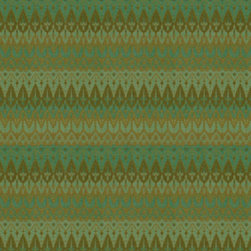 Ila Citrus Fabric by Annie Selke - I love the intricate pattern of this fabric from Annie Selkie. A wider piece shows subtle stripes within the detailed pattern.