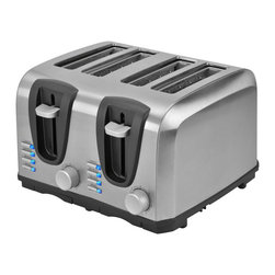 Kalorik - Kalorik Stainless Steel 4-Slice Toaster - Update the functionality of your kitchen with this stylish stainless steel toaster by Kalorik. This toaster has room for up to four pieces of bread at the same time,so it's great for the family. With four functions,every piece of toast is perfect.