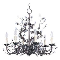 Maxim-Lighting - Maxim-Lighting 2851Oi Elegante 6-Light Chandelier - Maxim-Lighting 2851OI Elegante 6-Light Chandelier