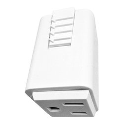 Juno Lighting - Juno T33 Track Outlet Adapter, T33wh - Outlet adapter provides electrical receptacle to Trac.