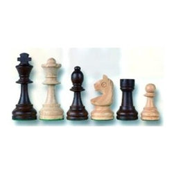 Cambor - Staunton Design Chess Set w Hand-Carved Knights - Hand carved knights make this durable wood chess set even more luxurious and ideal for beginning players or experts alike. Finished in a creamy natural and rich walnut for gorgeous contrast, the chess set will be an excellent addition to any game room, study or library. Made of Wood. Hand carved Knights. Natural and Walnut color. King: 3.75 in. H / Base: 1.375 in. dia.. 9 in. L x 6 in. W x 3 in. H (2 lbs.)