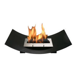 "Bio-Blaze - Bio-Blaze BB-VW Veniz  Bio-ethanol Fireplace, Black - The Veniz is a pure poetic design inspired by  the traditional Venetian gondola"". This free-standing fireplace can be placed as an insert in your fireplace, as a center piece combined with the glass set, or enjoyed around a swimming pool. Use it in the winter as a heater and in the summer time by the pool or on the veranda to bring a captivating style to your outdoor decor."
