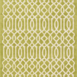 "Loloi Rugs - Loloi Rugs Brighton Collection - Apple Green, 9'-3"" x 13' - There are geometric rugs and then there is the striking Brighton Collection, which sets a new standard for geometric style. Hand-tufted in India, 100% wool yarns are hand-dipped into rich dye lots, producing lively colors that pair fabulously with its playful patterns. Brighton also combines a cut and loop pile, creating a mix of heights and textures for added visual interest. Available in 12 playful designs."