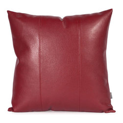 Howard Elliott Collection - Avanti Apple 20-Inch Square Pillow - - Change up color themes or add pop to a simple sofa or bedding display by piling up the pillows in a multitude of colors, textures and patterns. This Avanti Pillow features a bold apple red color, textured grain and a paneled design to give the look of true leather  - The high-style design and high-end materials in the pillows are what set Howard Elliott apart from the competition  - Howard Elliott?s innovative product line is carefully designed and packaged to ensure low damage rates for their high quality and custom items. Howard Elliott Collection - 2-193