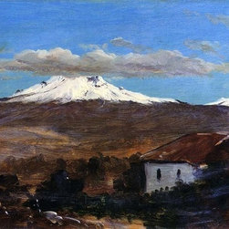 "Frederic Edwin Church Mount Chimborazo, Ecuador Print - 16"" x 24"" Frederic Edwin Church Mount Chimborazo, Ecuador, Shown from Riiobamba premium archival print reproduced to meet museum quality standards. Our museum quality archival prints are produced using high-precision print technology for a more accurate reproduction printed on high quality, heavyweight matte presentation paper with fade-resistant, archival inks. Our progressive business model allows us to offer works of art to you at the best wholesale pricing, significantly less than art gallery prices, affordable to all. This line of artwork is produced with extra white border space (if you choose to have it framed, for your framer to work with to frame properly or utilize a larger mat and/or frame).  We present a comprehensive collection of exceptional art reproductions byFrederic Edwin Church."