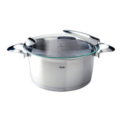 """Fissler - Solea Stew Pot, 5.1L - """"Visionary. Individual. Sophisticated. This is the Solea premium cookware line. With its compelling functional features, design, and high quality """"""""Made in Germany"""""""" standard, it is an absolute must for sophisticated cooks with a sense of aesthetics and design. Loaded with many ingenious functions and numerous design awards, Solea provides unique cooking convenience. All Solea items are dishwasher-safe and oven-proof."""