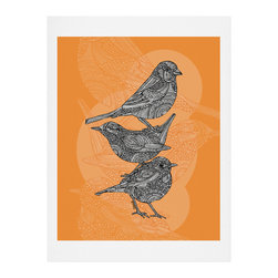 DENY Designs - DENY Designs Valentina Ramos 3 Little Birds Art Print - Finally an affordable wall art option! Order one statement print or live on the edge and dream up an entire gallery wall. And whether you frame it or hang it as-is, your walls will be big on inspiration while being kind on your pocketbook.